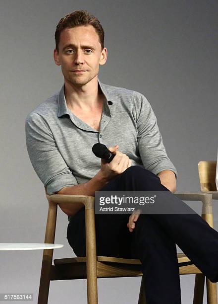 Actor Tom Hiddleston attends Apple store soho Presents Meet The Actor Tom Hiddleston and Wrenn Schmidt 'I Saw the Light' at Apple Store Soho on March...