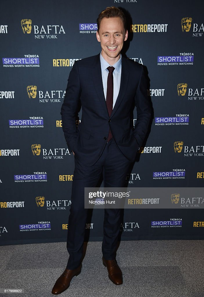 Actor <a gi-track='captionPersonalityLinkClicked' href=/galleries/search?phrase=Tom+Hiddleston&family=editorial&specificpeople=4686407 ng-click='$event.stopPropagation()'>Tom Hiddleston</a> attends BAFTA New York With Tribeca Shortlist Hosts 'In Conversation With <a gi-track='captionPersonalityLinkClicked' href=/galleries/search?phrase=Tom+Hiddleston&family=editorial&specificpeople=4686407 ng-click='$event.stopPropagation()'>Tom Hiddleston</a>' on March 28, 2016 in New York City.