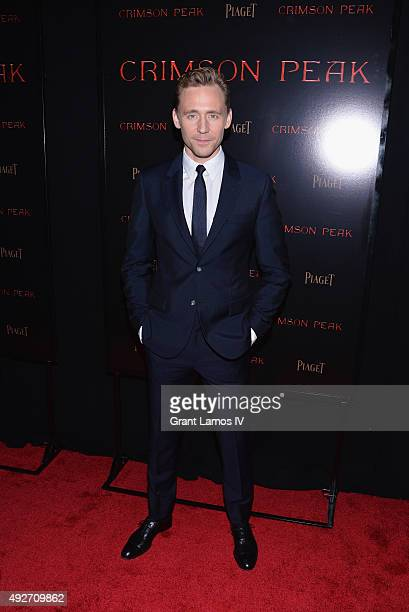 Actor Tom Hiddleston attends 'Crimson Peak' New York Premiere at AMC Loews Lincoln Square on October 14 2015 in New York City