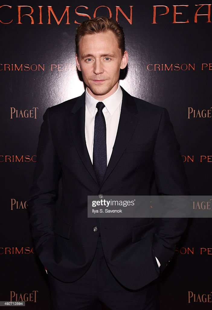Actor Tom Hiddleston attends Piaget Co-Hosts The Crimson Peak Premiere on October 14, 2015 in New York City.