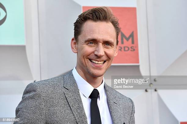 Actor Tom Hiddleston attends the 51st Academy of Country Music Awards at MGM Grand Garden Arena on April 3 2016 in Las Vegas Nevada