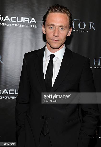 Actor Tom Hiddleston attends the after party for the movie of THOR presented by Acura on May 2 2011 in Hollywood California