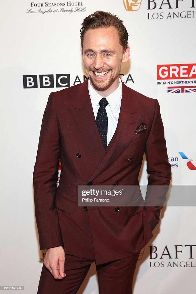Actor Tom Hiddleston attends The BAFTA Tea Party at Four Seasons Hotel Los Angeles at Beverly Hills on January 7, 2017 in Los Angeles, California.