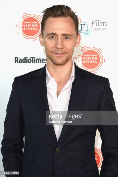 Actor Tom Hiddleston attends the BFI Radio Times TV Festival at BFI Southbank on April 9 2017 in London England