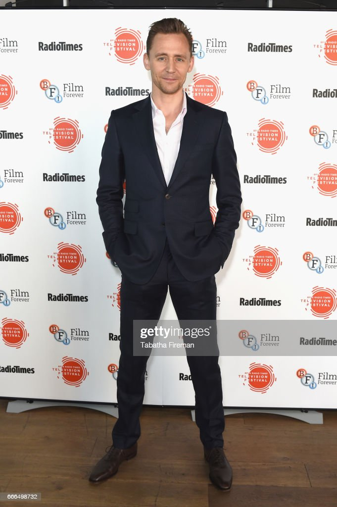 Actor Tom Hiddleston attends the BFI & Radio Times TV Festival at BFI Southbank on April 9, 2017 in London, England.