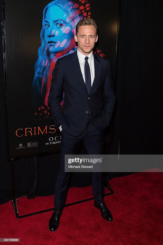 Actor Tom Hiddleston attends the 'Crimson Peak' New York premiere at AMC Loews Lincoln Square on October 14, 2015 in New York City.