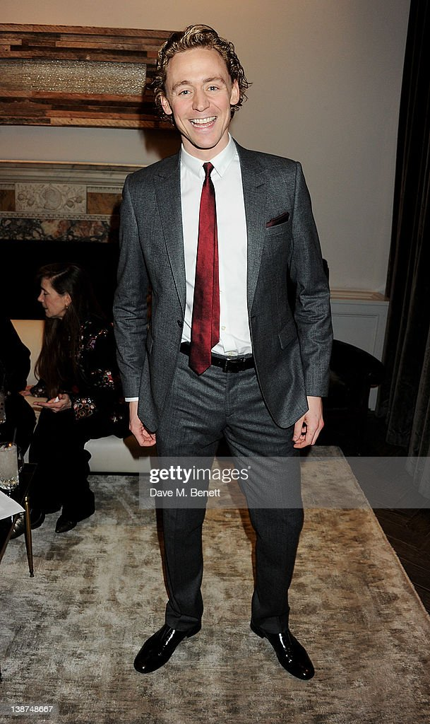 Actor Tom Hiddleston attends the Dreamworks Pre-BAFTA Tea Party in celebration of 'The Help' and 'War Horse' at The Arts Club on February 11, 2012 in London, England.