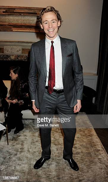 Actor Tom Hiddleston attends the Dreamworks PreBAFTA Tea Party in celebration of 'The Help' and 'War Horse' at The Arts Club on February 11 2012 in...