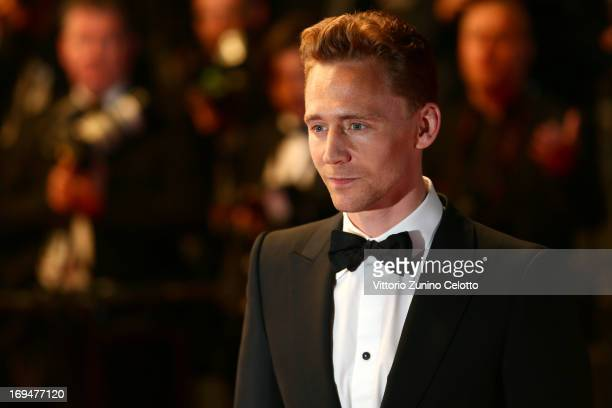 Actor Tom Hiddleston attends the 'Only Lovers Left Alive' premiere during The 66th Annual Cannes Film Festival at the Palais des Festivals on May 25...