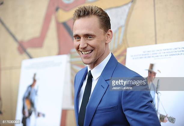 Actor Tom Hiddleston attends the premiere of 'I Saw The Light' at the Egyptian Theatre on March 22 2016 in Hollywood California