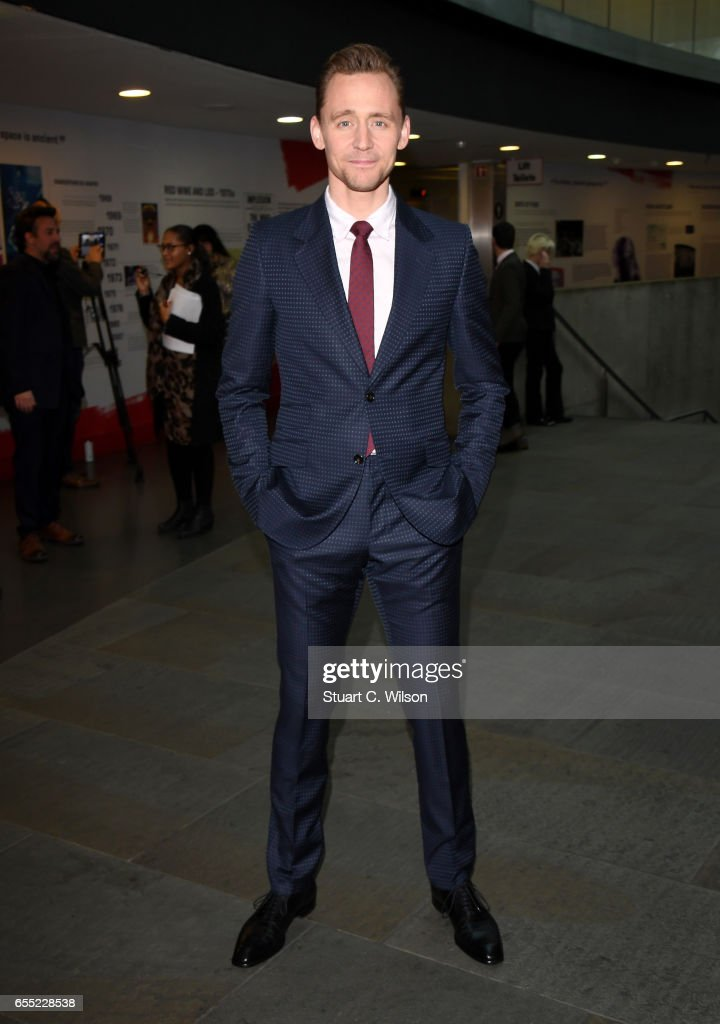 Actor Tom Hiddleston attends the THREE Empire awards at The Roundhouse on March 19, 2017 in London, England.