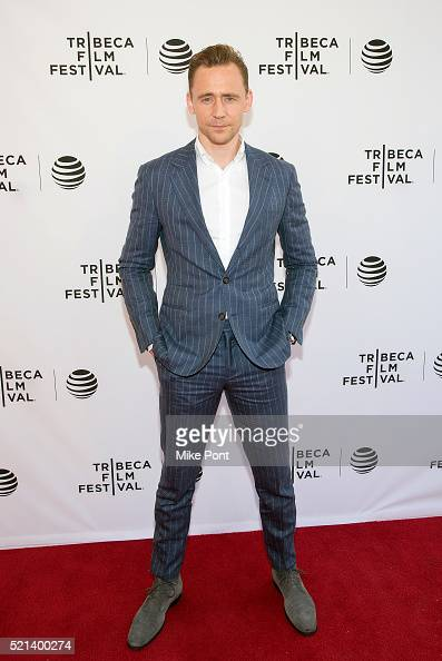 Actor Tom Hiddleston attends the Tribeca Tune In 'The Night Manager' during the 2016 Tribeca Film Festival at SVA Theatre on April 15 2016 in New...