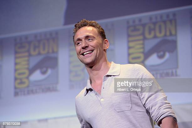Actor Tom Hiddleston attends the Warner Bros Presentation during ComicCon International 2016 at San Diego Convention Center on July 23 2016 in San...