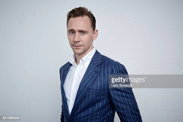Actor Tom Hiddleston from 'The Night Manager' poses at the Tribeca Film Festival Getty Images Studio on April 15 2016 in New York City