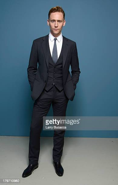 Actor Tom Hiddleston of 'Only Lovers Left Alive' poses at the Guess Portrait Studio during 2013 Toronto International Film Festival on September 6...