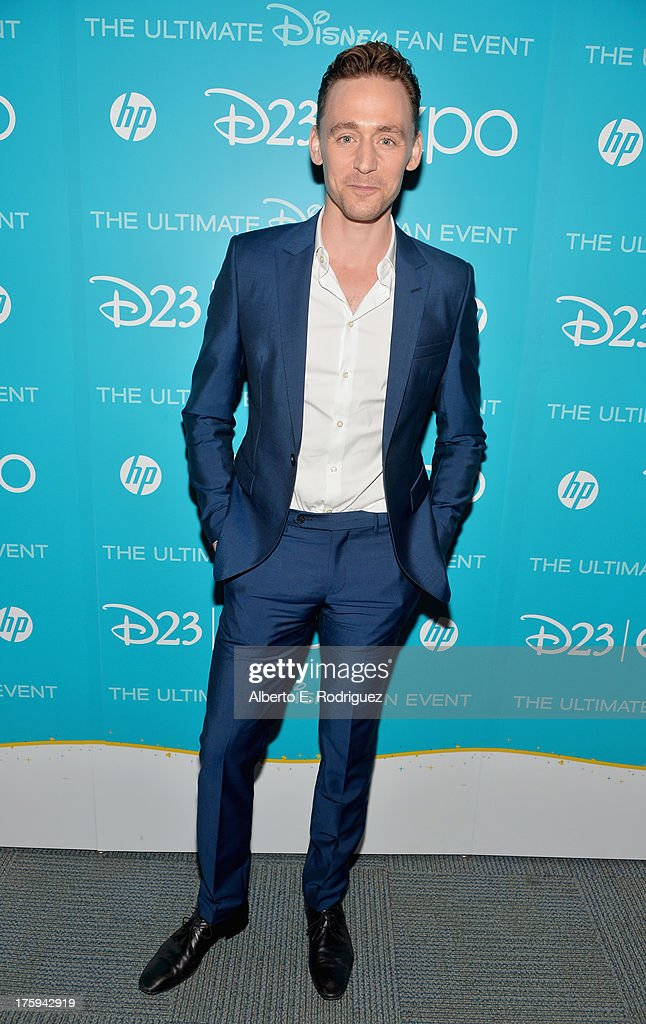 Actor Tom Hiddleston of 'Thor: The Dark World' attends 'Let the Adventures Begin: Live Action at The Walt Disney Studios' presentation at Disney's D23 Expo held at the Anaheim Convention Center on August 10, 2013 in Anaheim, California.