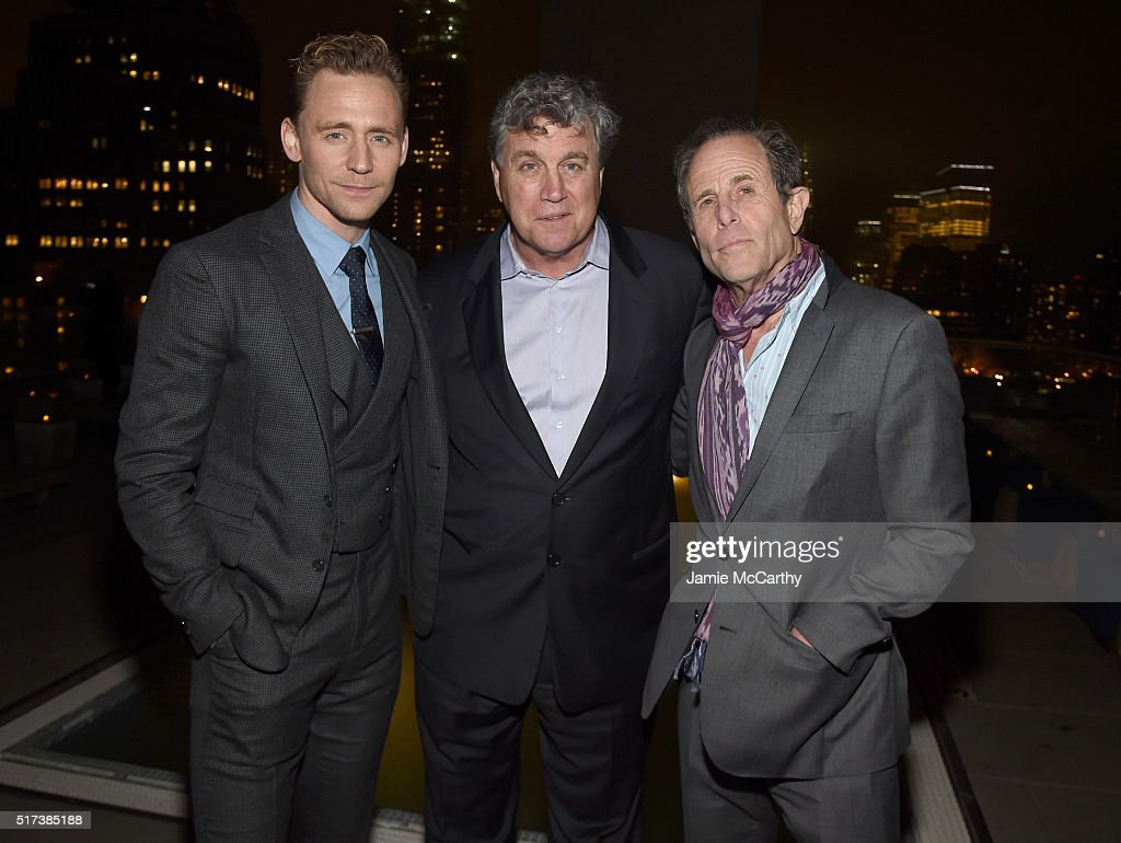 Actor Tom Hiddleston Sony Pictures Classics cofounder Tom Bernard and director Marc Abraham attend the after party for the screening of Sony Pictures...