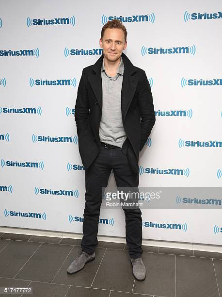 Actor Tom Hiddleston visits at SiriusXM Studio on March 25 2016 in New York City