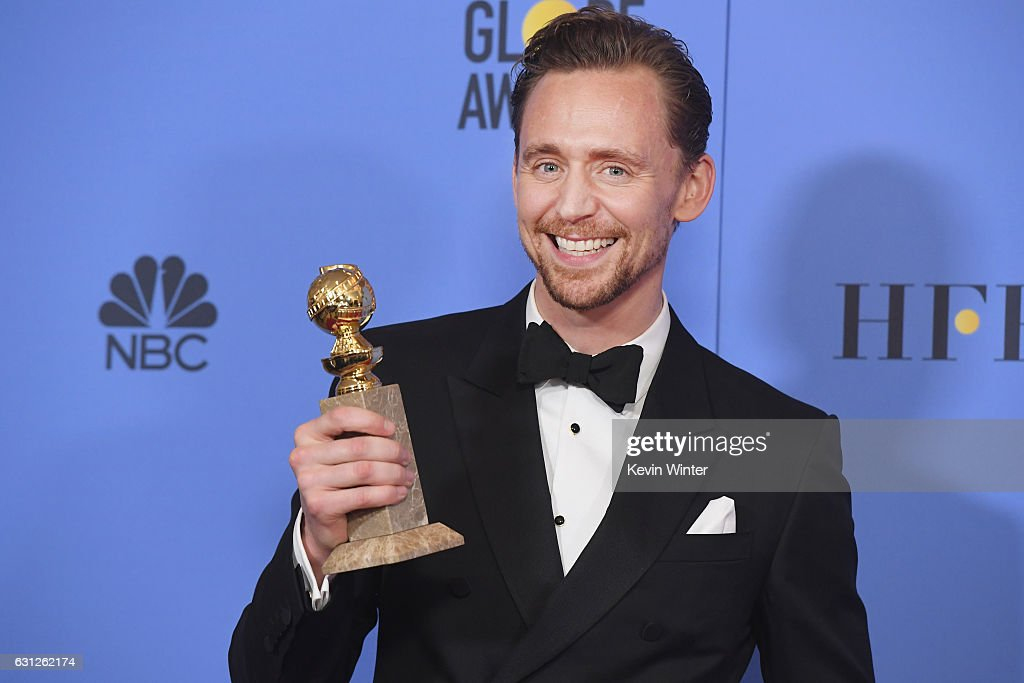 Actor Tom Hiddleston, winner of Best Actor in a Miniseries or Television Film for 'The Night Manager,' poses in the press room during the 74th Annual Golden Globe Awards at The Beverly Hilton Hotel on January 8, 2017 in Beverly Hills, California.