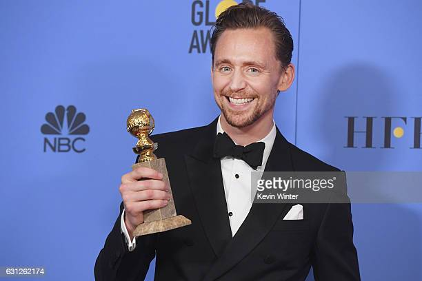 Actor Tom Hiddleston winner of Best Actor in a Miniseries or Television Film for 'The Night Manager' poses in the press room during the 74th Annual...