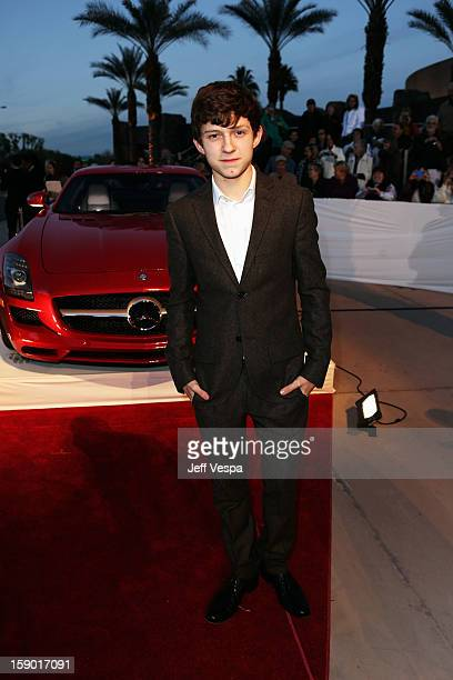 Actor Tom Holland arrives at the 24th annual Palm Springs International Film Festival Awards Gala at the Palm Springs Convention Center on January 5...