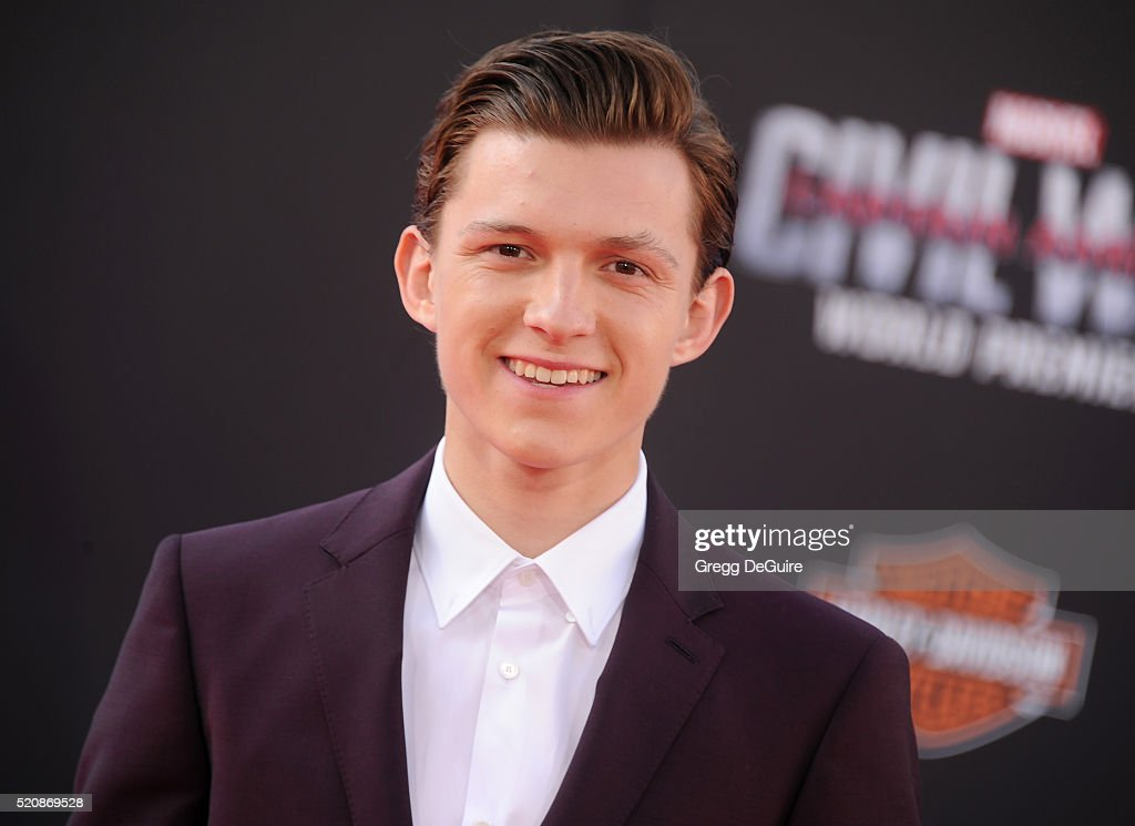 Actor Tom Holland arrives at the premiere of Marvel's 'Captain America Civil War' on April 12 2016 in Hollywood California