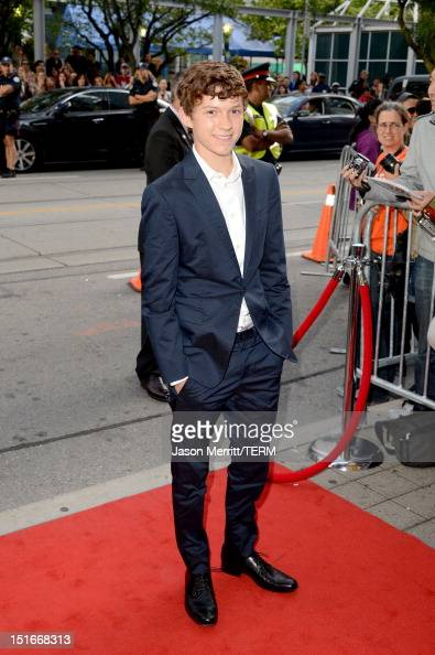 Actor Tom Holland arrives at the 'The Impossible' Premiere at the 2012 Toronto International Film Festival at the Princess of Wales Theatre on...