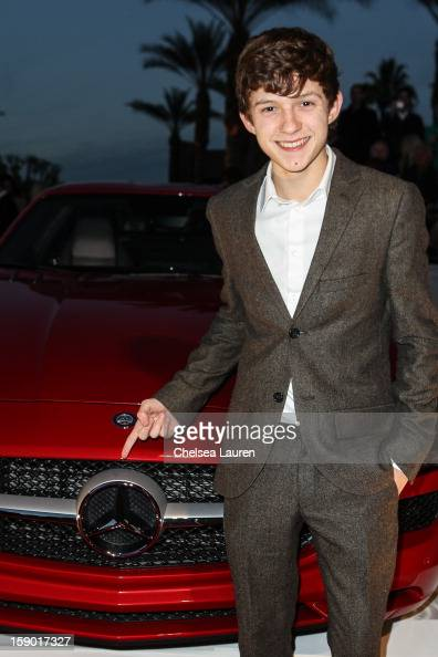 Actor Tom Holland arrives in style with MercedesBenz at the Palm Springs International Film Festival at the Palm Springs Convention Center on January...