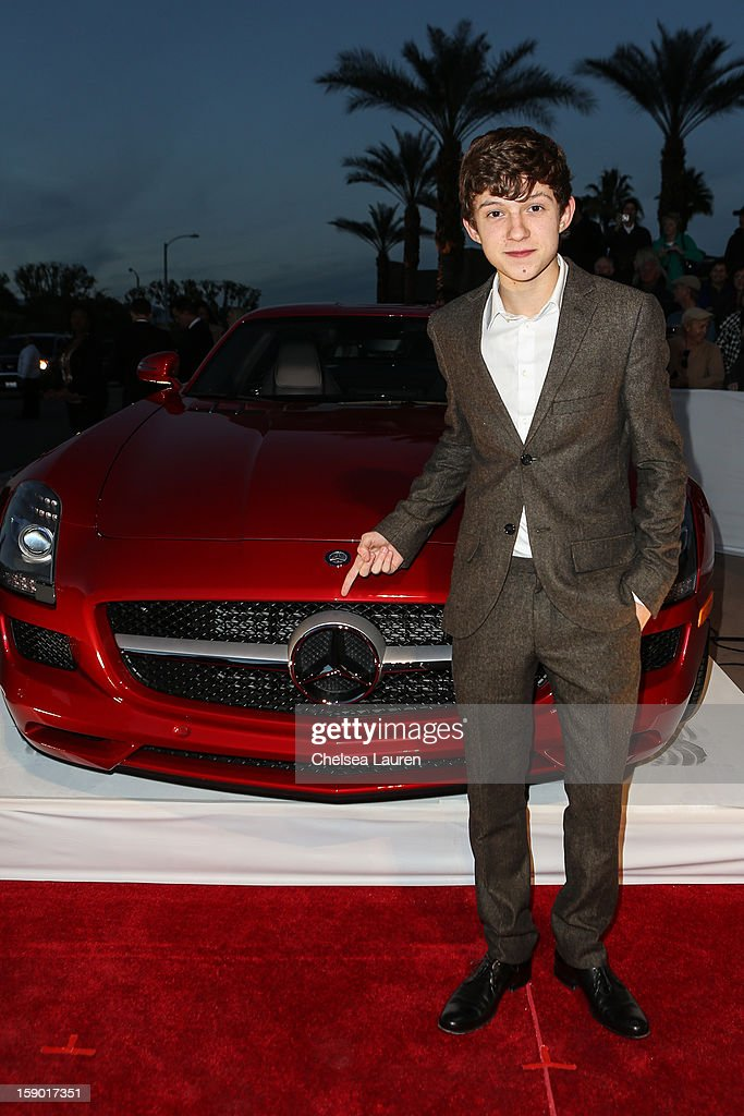 Actor Tom Holland arrives in style with Mercedes-Benz at the Palm Springs International Film Festival at the Palm Springs Convention Center on January 5, 2013 in Palm Springs, California.