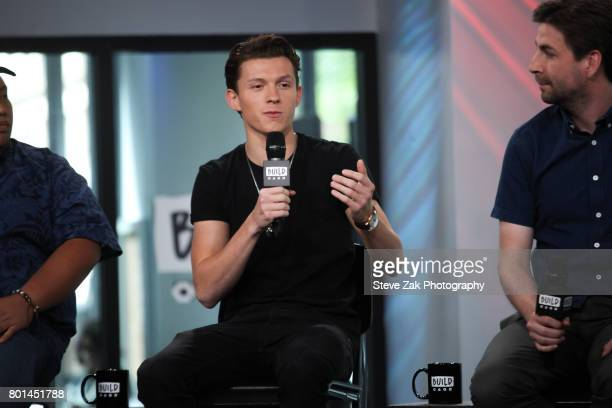 Actor Tom Holland attends Build Series to discuss his new movie 'SpiderMan Homecoming' at Build Studio on June 26 2017 in New York City