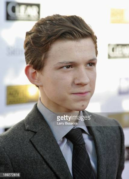 Actor Tom Holland attends the 18th Annual Critics' Choice Movie Awards held at Barker Hangar on January 10 2013 in Santa Monica California
