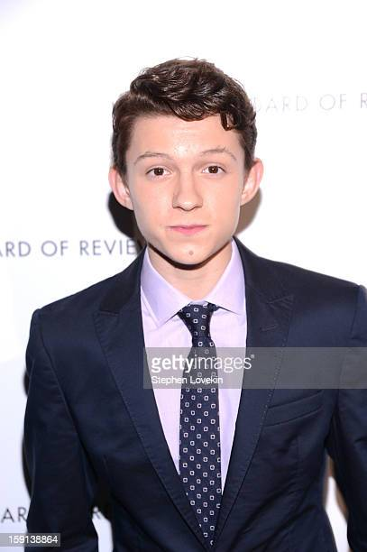 Actor Tom Holland attends the 2013 National Board Of Review Awards at Cipriani 42nd Street on January 8 2013 in New York City