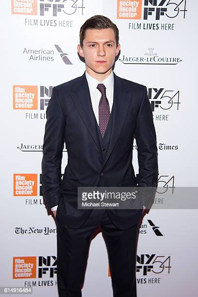 Actor Tom Holland attends the 54th New York Film Festival closing night screening of 'The Lost City Of Z' at Alice Tully Hall Lincoln Center on...