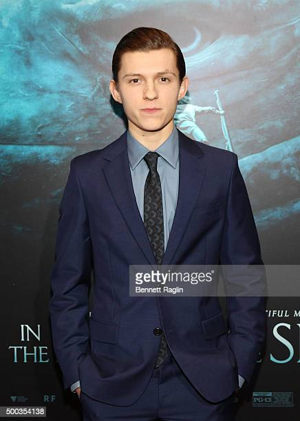 Actor Tom Holland attends the 'In The Heart Of The Sea' New York Premiere at Frederick P Rose Hall Jazz at Lincoln Center on December 7 2015 in New...