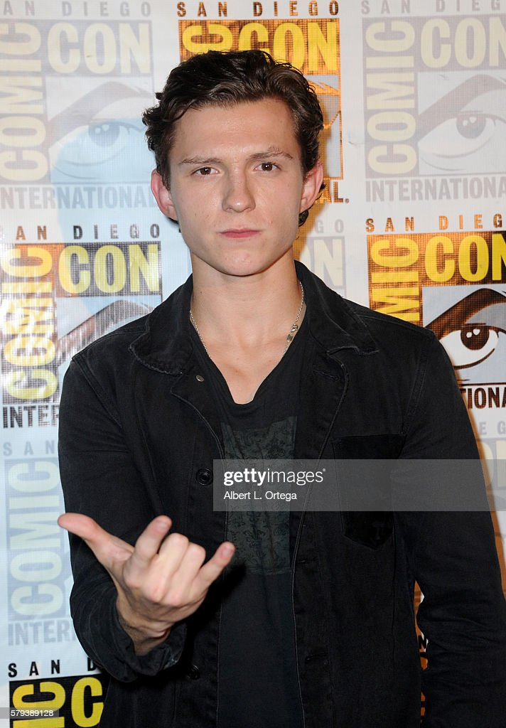 Actor Tom Holland attends the Marvel Studios presentation during ComicCon International 2016 at San Diego Convention Center on July 23 2016 in San...