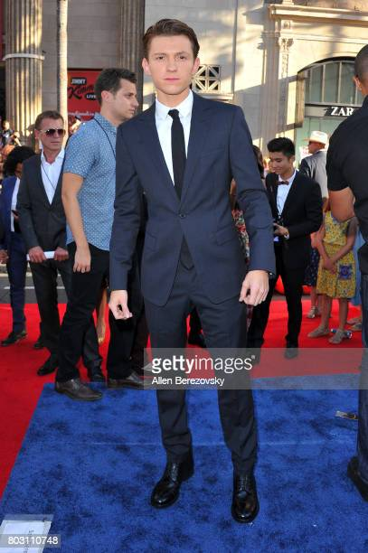 Actor Tom Holland attends the premiere of Columbia Pictures' 'SpiderMan Homecoming' at TCL Chinese Theatre on June 28 2017 in Hollywood California