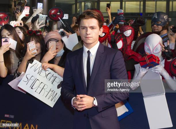 Actor Tom Holland attends the Red Carpet Event for 'SpiderMan Homecoming' at Times square CGV theater in Seoul South Korea on July 02 2017