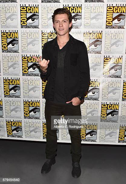 "Actor Tom Holland from Marvel Studios' 'SpiderMan Homecoming"" attends the San Diego ComicCon International 2016 Marvel Panel in Hall H on July 23..."
