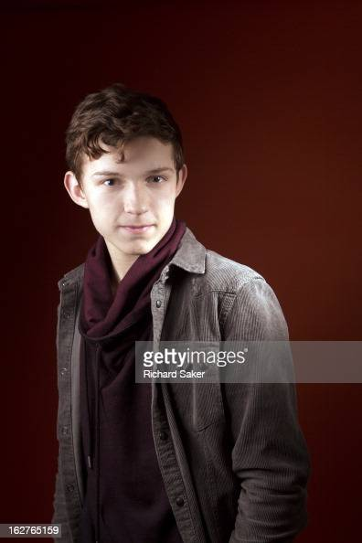 Actor Tom Holland is photographed for the Observer on December 17 2013 in London England