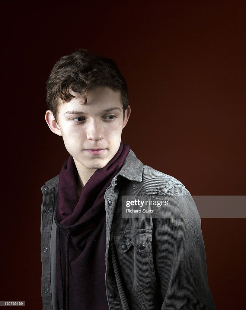 Actor Tom Holland is photographed for the Observer on December 17, 2013 in London, England.