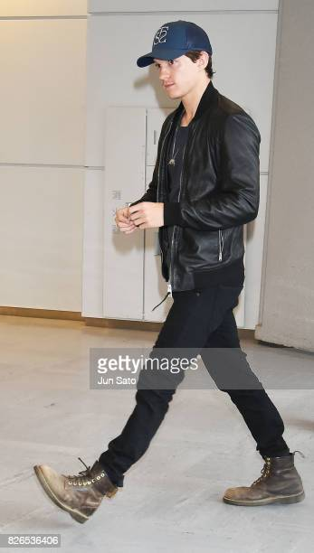 Actor Tom Holland is seen upon arrival at Narita International Airport on August 5 2017 in Tokyo Japan