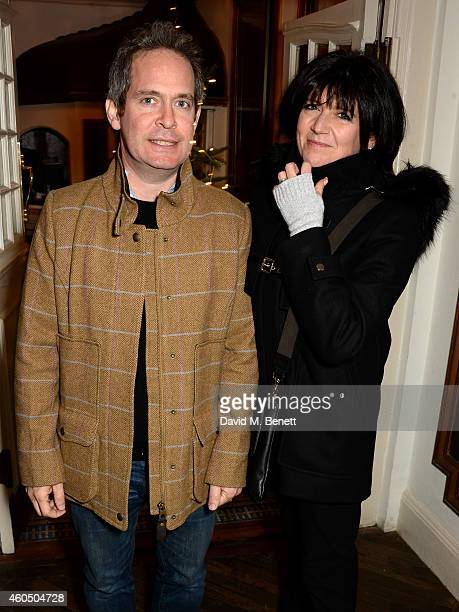 Actor Tom Hollander and Emma Freud attend the screening of 'Trash' hosted by Claudia Winkleman Emma Freud and Laura Bailey at The Electric Cinema on...