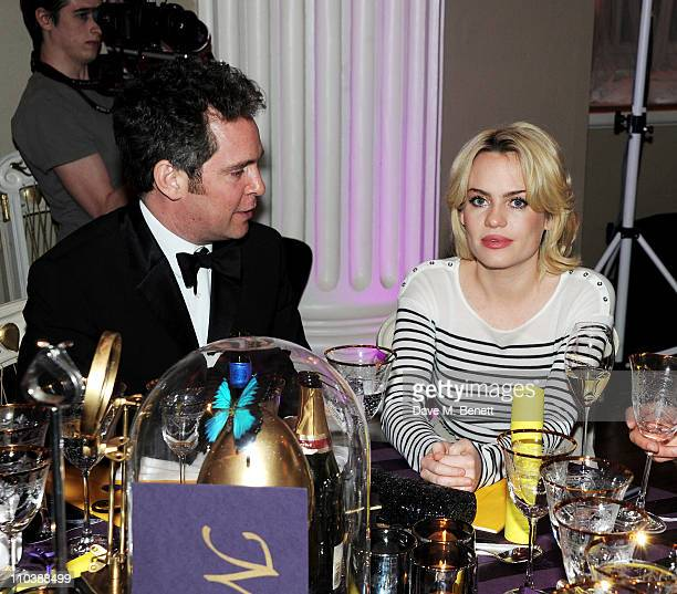Actor Tom Hollander and musician Duffy attend The Surrealist Ball in aid of NSPCC hosted by Dasha Zhukova editor of Harper's Bazaar Lucy Yeomans and...