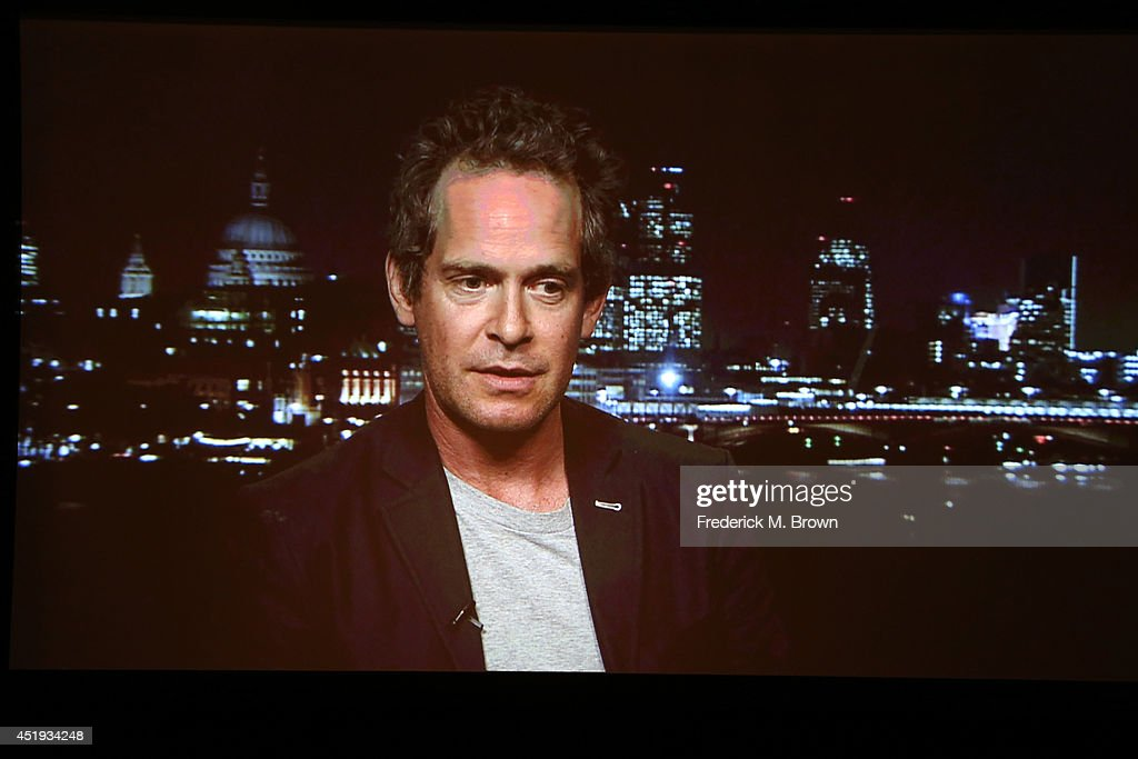 Actor Tom Hollander speaks via satellite at the 'A Poet in New York' panel during the BBC America portion of the 2014 Summer Television Critics Association at The Beverly Hilton Hotel on July 9, 2014 in Beverly Hills, California.