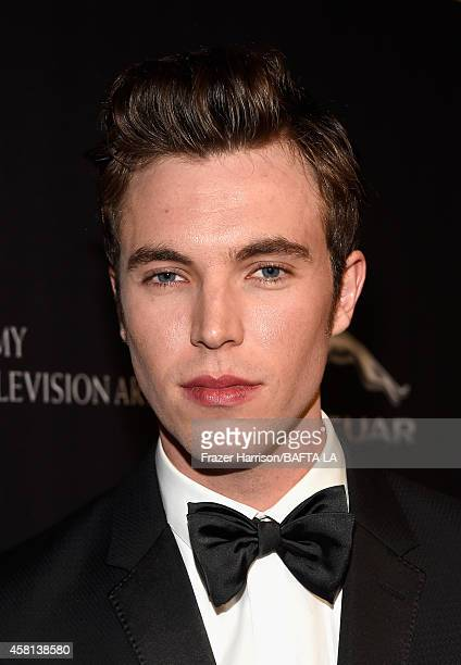Actor Tom Hughes attends the BAFTA Los Angeles Jaguar Britannia Awards presented by BBC America and United Airlines at The Beverly Hilton Hotel on...