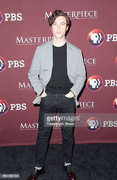 Actor Tom Hughes attends the 'Masterpiece 'Victoria' panel discussion at the PBS portion of the 2016 Television Critics Association Summer Tour at...