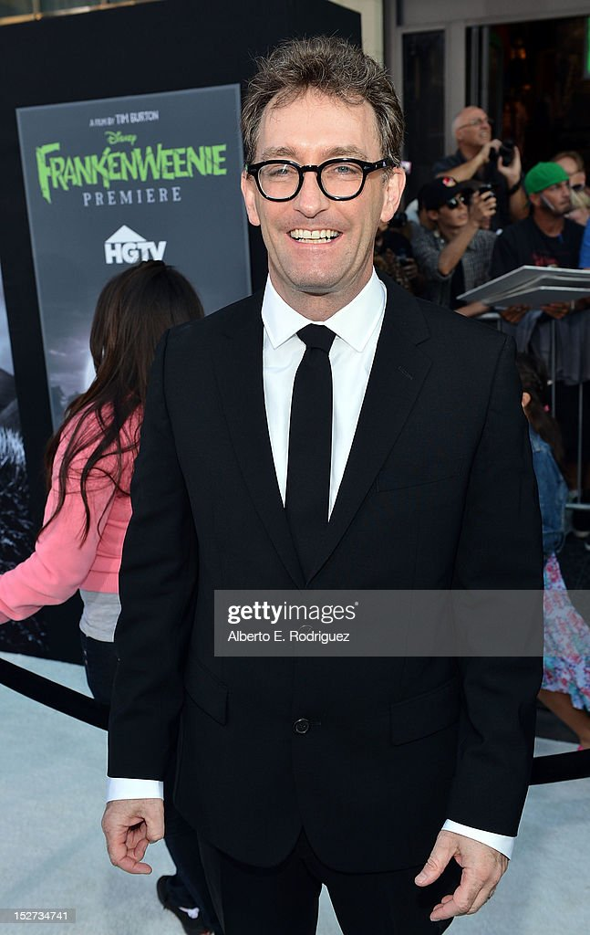 Actor <a gi-track='captionPersonalityLinkClicked' href=/galleries/search?phrase=Tom+Kenny&family=editorial&specificpeople=215463 ng-click='$event.stopPropagation()'>Tom Kenny</a> arrives at Disney's 'Frankenweenie' premiere at the El Capitan Theatre on September 24, 2012 in Hollywood, California.