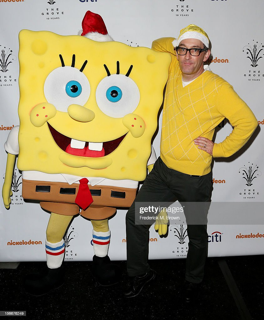 Actor <a gi-track='captionPersonalityLinkClicked' href=/galleries/search?phrase=Tom+Kenny&family=editorial&specificpeople=215463 ng-click='$event.stopPropagation()'>Tom Kenny</a> attends Nickelodeon's Spongebob Holiday Extravapants At The Grove on November 18, 2012 in Los Angeles, California.