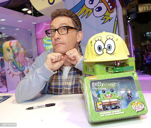 Actor Tom Kenny attends the SpongeBob SqaurePants signing at the 2014 San Diego ComicCon International Day 4 on July 26 2014 in San Diego California