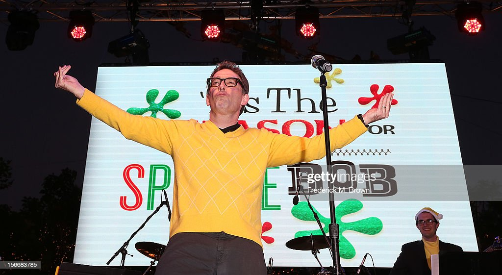 Actor Tom Kenny performs during Nickelodeon's Spongebob Holiday Extravapants At The Grove on November 18, 2012 in Los Angeles, California.
